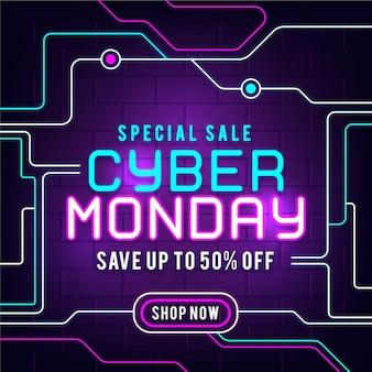 Neon cyber maandag