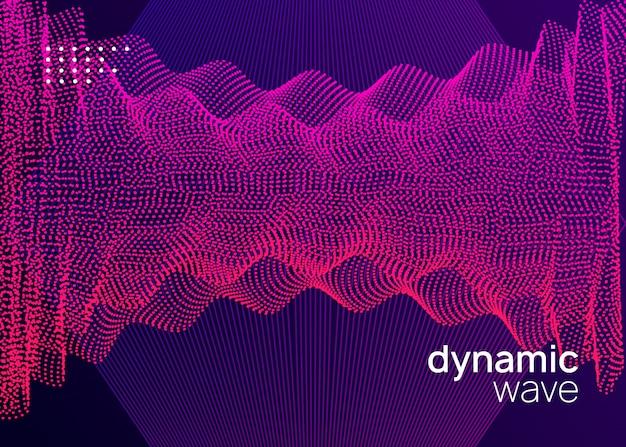 Neon dj-flyer. electro dansmuziek. elektronisch geluidsevenement. club