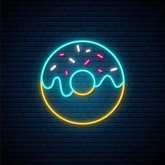 Neon donut teken.