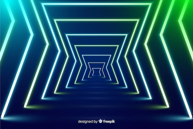 Neon fase lichten achtergrond