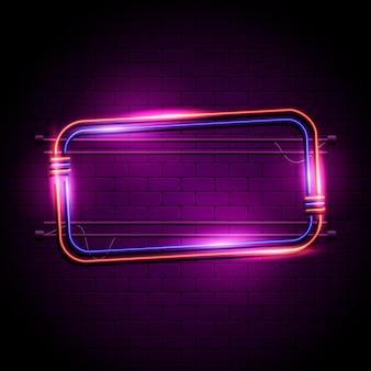 Neon frame sjabloon