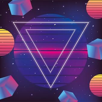 Neon geometrische textuur en grafische mode