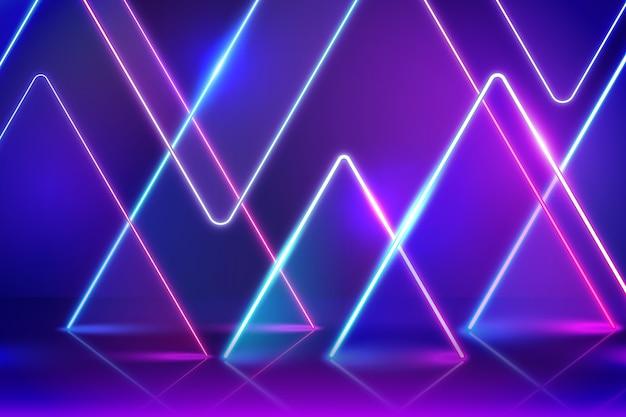 Neon geometrische vormen achtergrond
