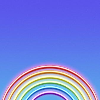 Neon gloeiende regenboog