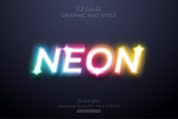 Neon gradient bewerkbaar tekststijleffect