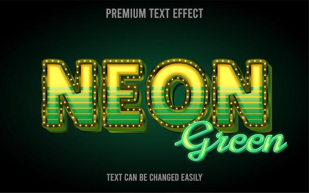 Neon groen teksteffect