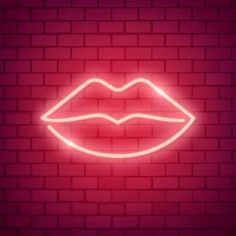 Neon hart illustratie