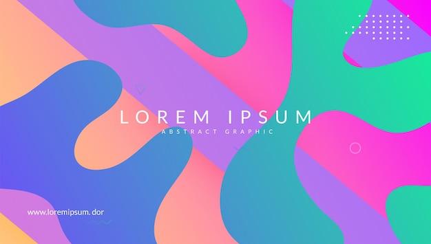 Neon hoes. memphis papier. kleur bestemmingspagina. golf abstracte vorm. verloop poster. moderne vormen. roze mobiel ontwerp. creatieve geometrie. lila neon cover