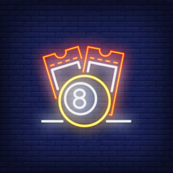 Neon icoon van loten