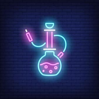 Neon icoon van waterpijp