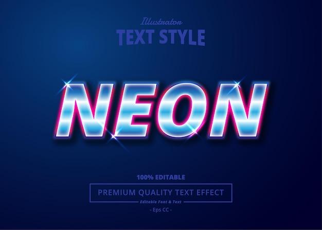 Neon illustrator-teksteffect
