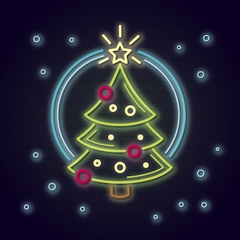 Neon kerstboom concept