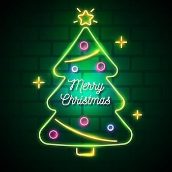 Neon kerstboom