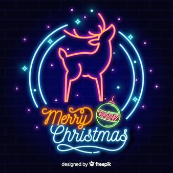 Neon kerstmis achtergrond