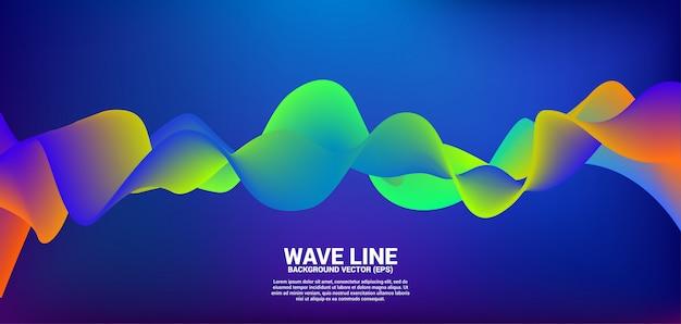 Neon kleur vloeiende curve vorm achtergrond.