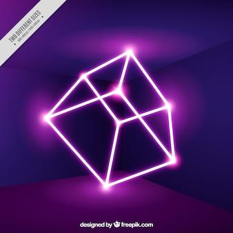Neon kubusachtergrond