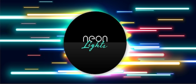 Neon led-lichtshow bannerontwerp