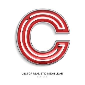 Neon letter c