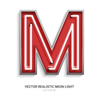 Neon letter m