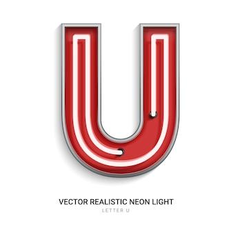 Neon letter u