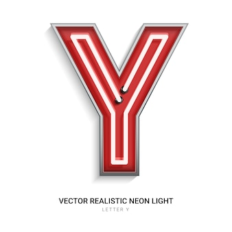 Neon letter y