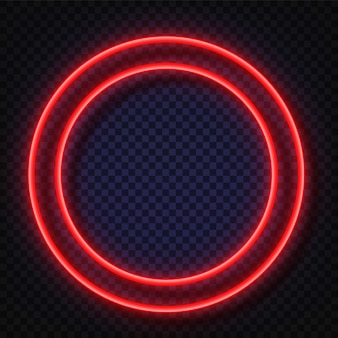 Neon licht vierkant teken.