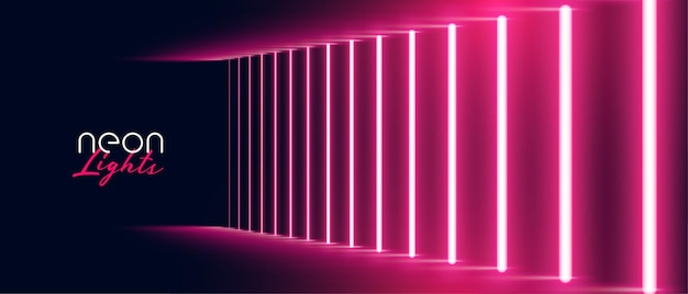 Neon lichteffect pad rood achtergrondontwerp