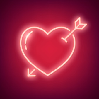Neon liefde illustratie