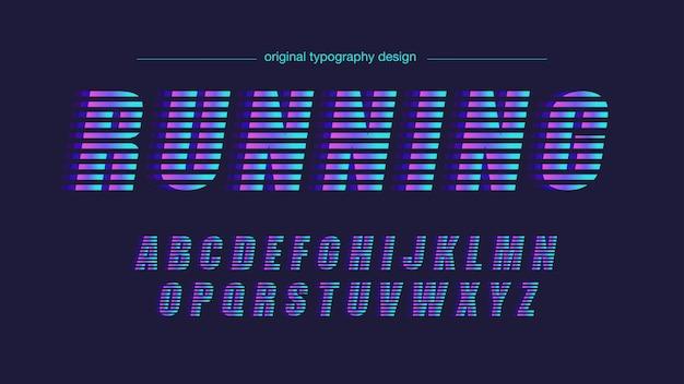 Neon lights line artistic font