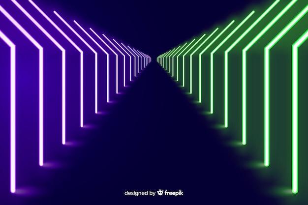 Neon lijnen abstracte achtergrond