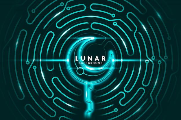 Neon lunar achtergrond
