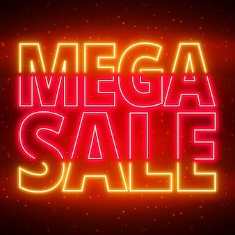 Neon mega verkoop teken