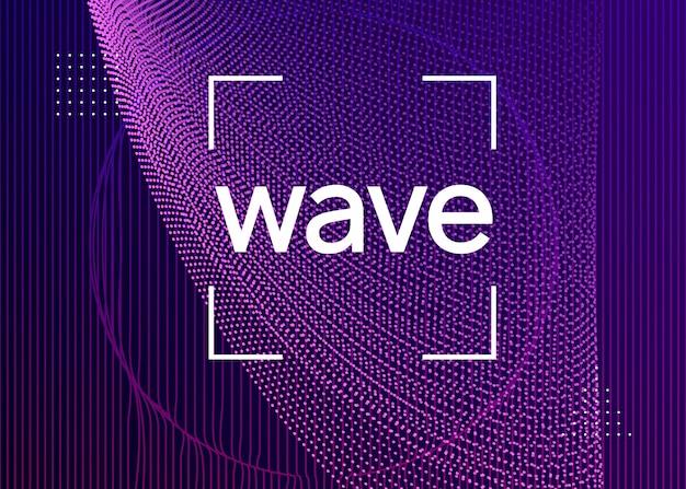 Neon muziek flyer. electro dance dj. elektronisch geluid fest. techn