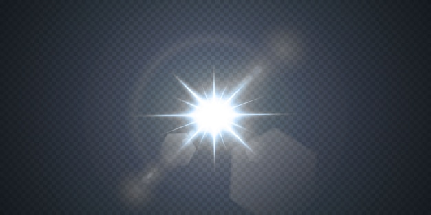 Neon of blauwe light glow flare stars-effecten.