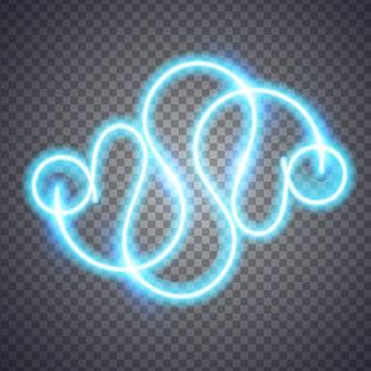 Neon onscherpe lijn. illustratie geïsoleerd