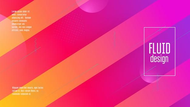 Neon-ontwerp. helder papier. technische bestemmingspagina. horizontale compositie
