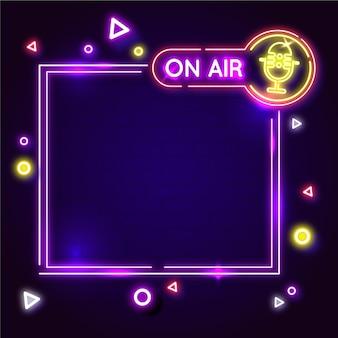 Neon op lucht frame illustratie