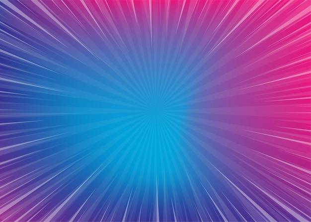 Neon popart strips radiale achtergrond met kleurovergang