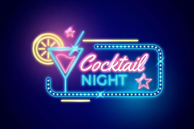Neon pub en restaurant bord