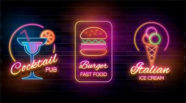 Neon pub of restaurant borden collectie