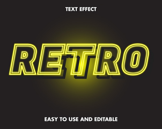 Neon retro teksteffect.