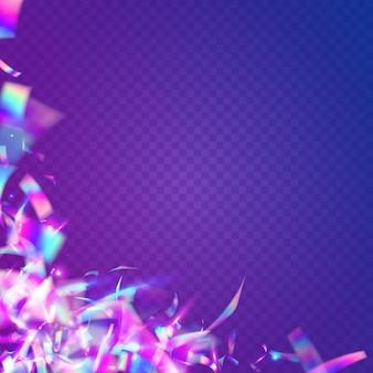 Neon schittering. metalen ontwerp. feest kunst. paars lasereffect. glimmend