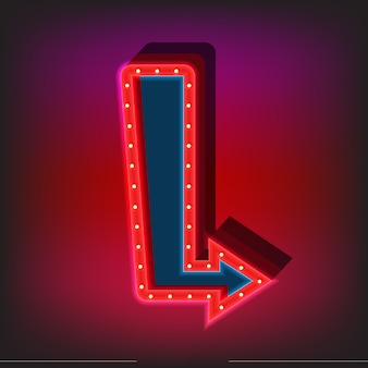 Neon sign template