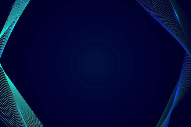 Neon synthwave rand op een donkerblauwe achtergrond