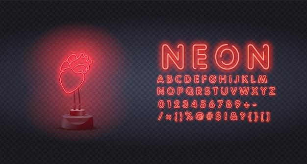 Neon teken enkele doorlopende lijn.