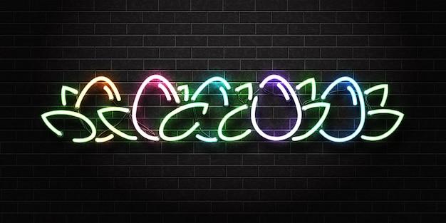 Neon teken van paaseieren