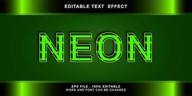 Neon teksteffect bewerkbare illustratie