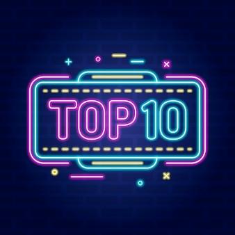 Neon top 10 onderscheiding