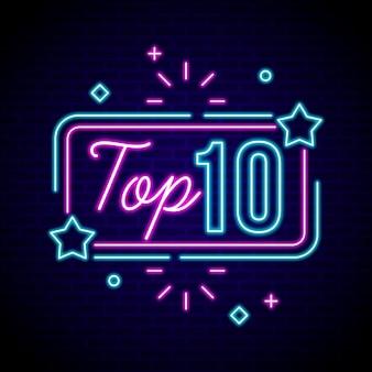 Neon top 10 onderscheidingen