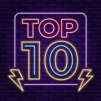 Neon top 10 sjabloon